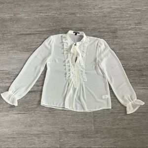 White sheer Blouse from Express